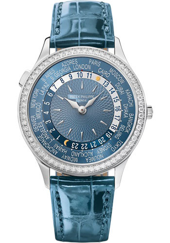 Patek Philippe Watches - Complications World Time - Diamond Bezel - Style No: 7130G-014