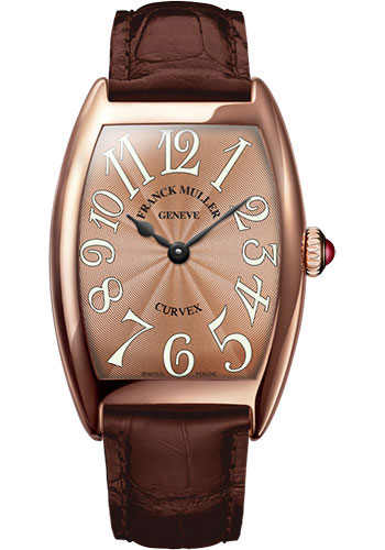 Franck Muller Watches - Cintre Curvex - Quartz - 29 mm Rose Gold - Strap - Style No: 7502 QZ 5N Bronze
