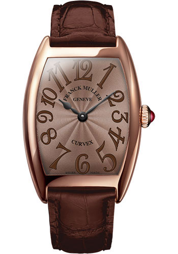 Franck Muller Watches - Cintre Curvex - Quartz - 29 mm Rose Gold - Strap - Style No: 7502 QZ 5N Chocolate