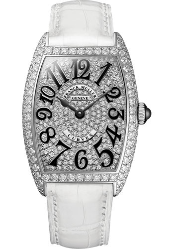 Franck Muller Watches - Cintre Curvex - Quartz - 29 mm Stainless Steel - Dia Case Full Dial - Strap - Style No: 7502 QZ D CD AC White