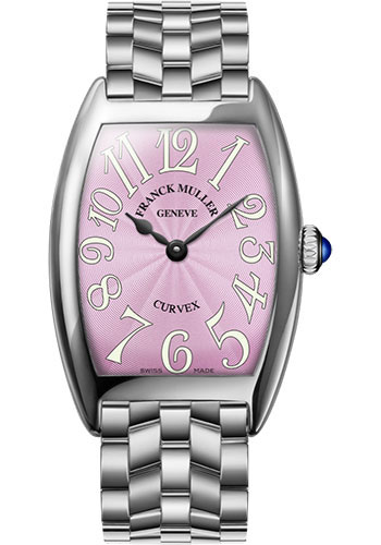 Franck Muller Watches - Cintre Curvex - Quartz - 29 mm Stainless Steel - Bracelet - Style No: 7502 QZ O AC Pink