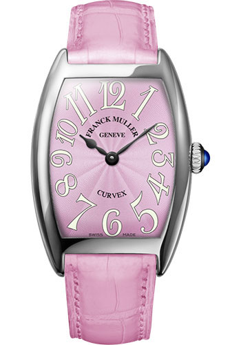 Franck Muller Watches - Cintre Curvex - Quartz - 29 mm White Gold - Strap - Style No: 7502 QZ OG Pink