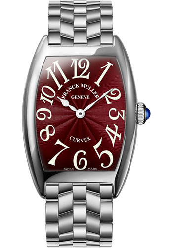 Franck Muller Watches - Cintre Curvex - Quartz - 29 mm White Gold - Bracelet - Style No: 7502 QZ O OG Red