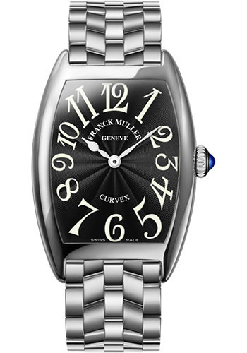 Franck Muller Watches - Cintre Curvex - Quartz - 29 mm Platinum - Bracelet - Style No: 7502 QZ O PT Black