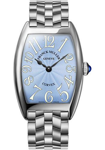 Franck Muller Watches - Cintre Curvex - Quartz - 29 mm Platinum - Bracelet - Style No: 7502 QZ O PT Pastel Blue