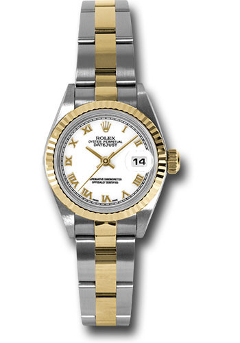 Pre-Owned Rolex Watches - Datejust Lady - Steel and Gold Yellow Gold - Fluted Bezel - Oyster - Style No: V79173wro