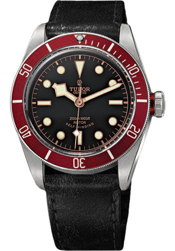 Tudor Watches - Heritage Black Bay Stainless Steel - Aged Leather - Style No: 79220R-leather-bk