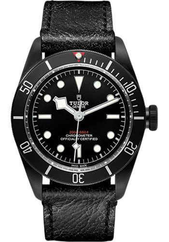 Tudor Watches - Heritage Black Bay Black PVD Steel - Aged Leather - Style No: 79230DK-leather
