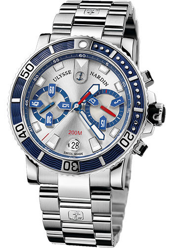 Ulysse Nardin Watches - Marine Diver Chronograph 42.7mm - Stainless Steel - Bracelet - Style No: 8003-102-7/91