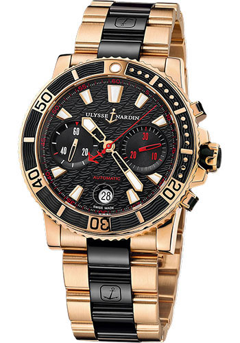 Ulysse Nardin Watches - Marine Diver Chronograph 42.7mm - Rose Gold - Bracelet - Style No: 8006-102-8C/926