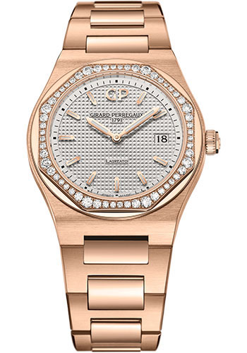 Girard-Perregaux Watches - Laureato 34 mm - Pink Gold - Style No: 80189D52A132-52A