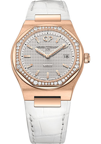 Girard-Perregaux Watches - Laureato 34 mm - Pink Gold - Style No: 80189D52A132-CB6A