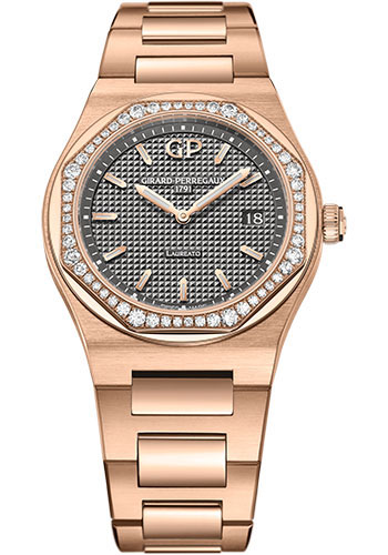 Girard-Perregaux Watches - Laureato 34 mm - Pink Gold - Style No: 80189D52A232-52A