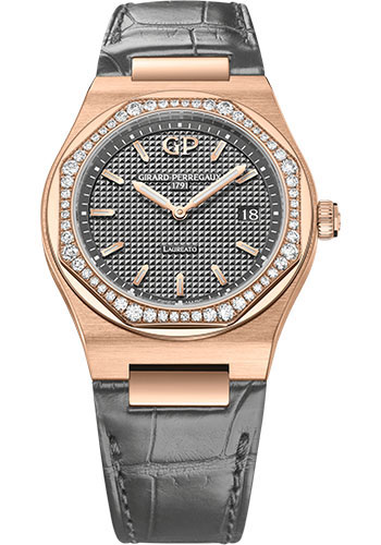 Girard-Perregaux Watches - Laureato 34 mm - Pink Gold - Style No: 80189D52A232-CB6A