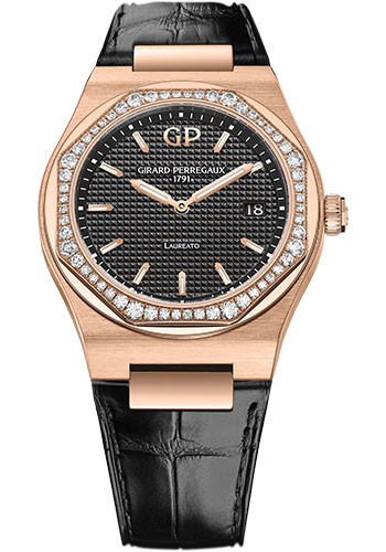 Girard-Perregaux Watches - Laureato 34 mm - Pink Gold - Style No: 80189D52A632-CB6A