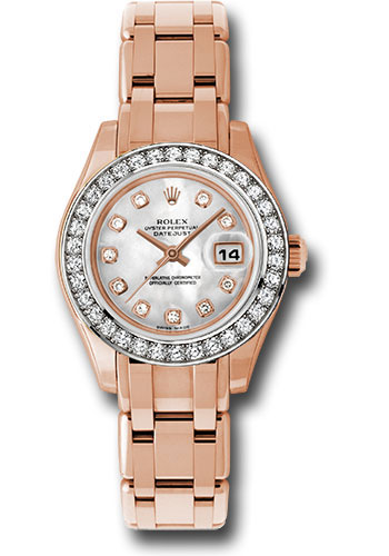 Rolex Watches - Datejust Pearlmaster Lady Everose Gold - 34 Diamond Bezel - Style No: 80285 md