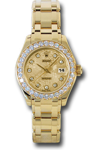 Rolex Watches - Datejust Pearlmaster Lady Yellow Gold - 32 Diamond Bezel - Style No: 80298 chjd