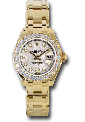 Rolex Watches - Datejust Pearlmaster Lady Yellow Gold - 32 Diamond Bezel - Style No: 80298 mtd
