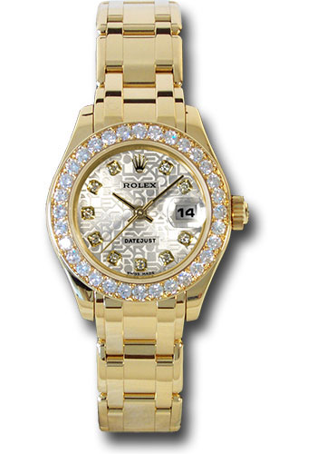 Rolex Watches - Datejust Pearlmaster Lady Yellow Gold - 32 Diamond Bezel - Style No: 80298 sjd