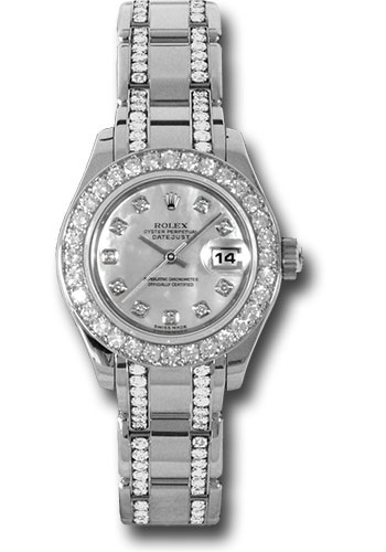 Rolex Watches - Datejust Pearlmaster Lady White Gold - 32 Diamond Bezel - Style No: 80299.74949 md