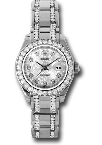 Rolex Watches - Datejust Pearlmaster Lady White Gold - 32 Diamond Bezel - Style No: 80299.74949 sjd