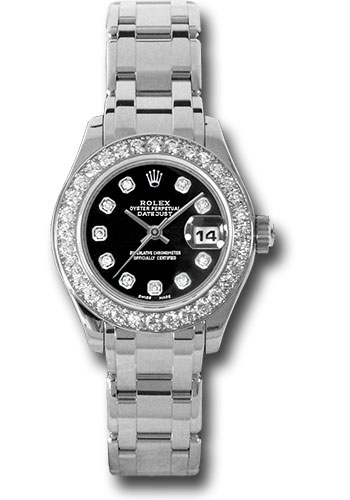 Rolex Watches - Datejust Pearlmaster Lady White Gold - 32 Diamond Bezel - Style No: 80299 bkd
