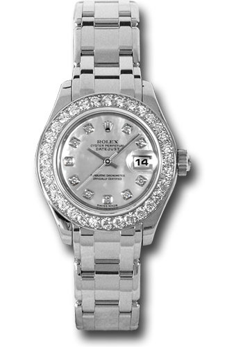 Rolex Watches - Datejust Pearlmaster Lady White Gold - 32 Diamond Bezel - Style No: 80299 md