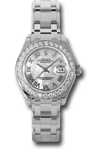 Rolex Watches - Datejust Pearlmaster Lady White Gold - 32 Diamond Bezel - Style No: 80299 mr