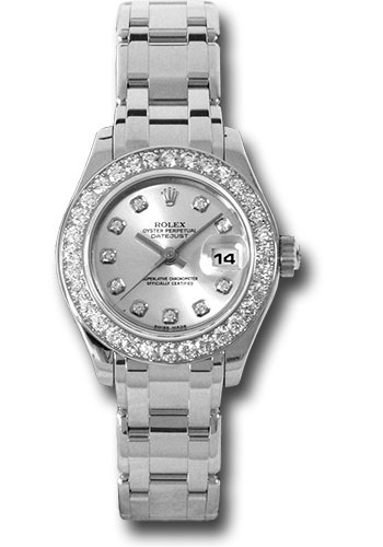 Rolex Watches - Datejust Pearlmaster Lady White Gold - 32 Diamond Bezel - Style No: 80299 sd
