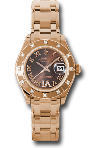 Rolex Watches - Datejust Pearlmaster Lady Everose Gold - 12 Diamond Bezel - Style No: 80315 brrd
