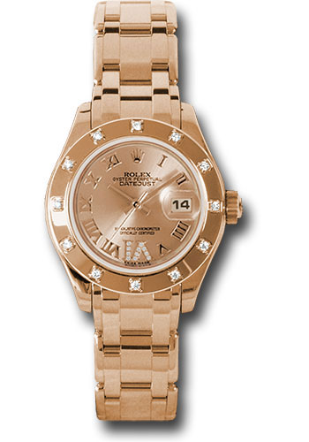 Rolex Watches - Datejust Pearlmaster Lady Everose Gold - 12 Diamond Bezel - Style No: 80315 chrd