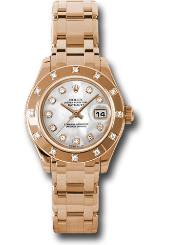 Rolex Watches - Datejust Pearlmaster Lady Everose Gold - 12 Diamond Bezel - Style No: 80315 md