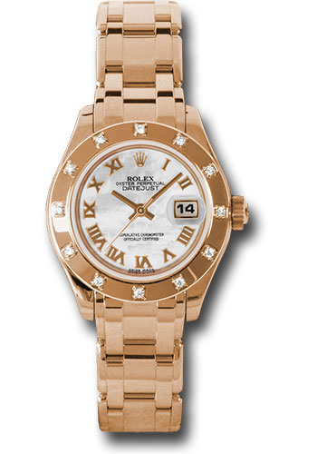 Rolex Watches - Datejust Pearlmaster Lady Everose Gold - 12 Diamond Bezel - Style No: 80315 mr