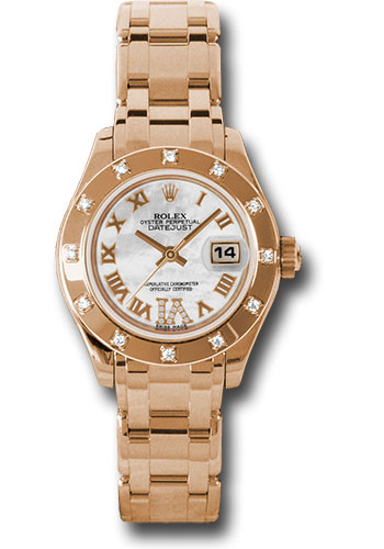 Rolex Watches - Datejust Pearlmaster Lady Everose Gold - 12 Diamond Bezel - Style No: 80315 mrd