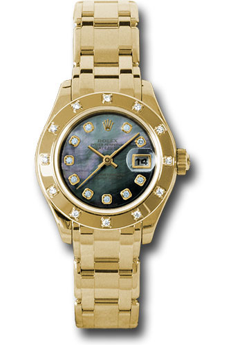 Rolex Watches - Datejust Pearlmaster Lady Yellow Gold - 12 Diamond Bezel - Style No: 80318 dkmd