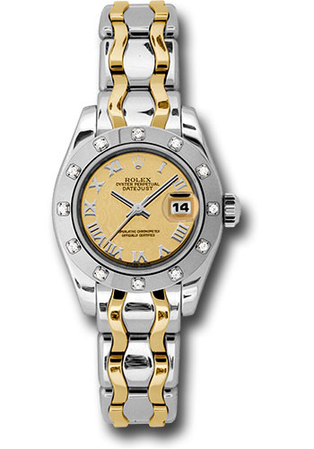 Rolex Watches - Datejust Pearlmaster Lady Bicolor - 12 Diamond Bezel - Style No: 80319 chrbic