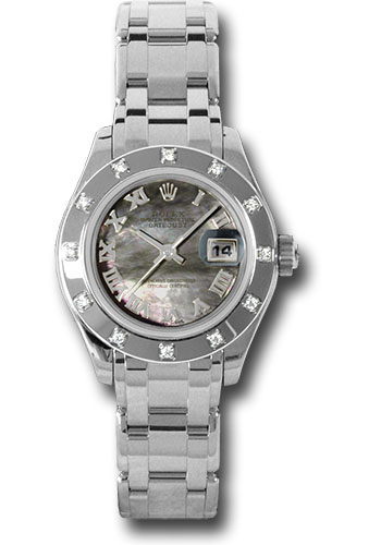 Rolex Watches - Datejust Pearlmaster Lady White Gold - 116 Diamond Bezel - Style No: 80319 dkmr