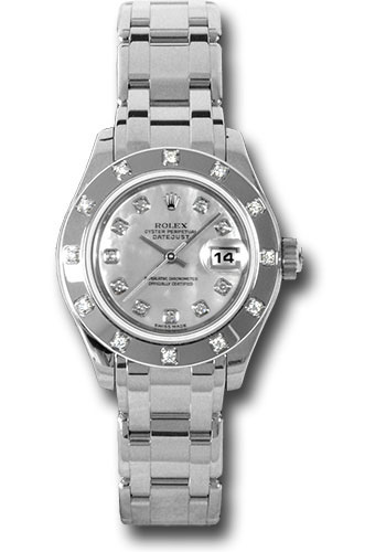 Rolex Watches - Datejust Pearlmaster Lady White Gold - 12 Diamond Bezel - Style No: 80319 md