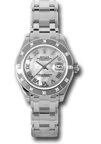 Rolex Watches - Datejust Pearlmaster Lady White Gold - 12 Diamond Bezel - Style No: 80319 mr