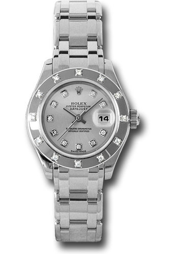 Rolex Watches - Datejust Pearlmaster Lady White Gold - 12 Diamond Bezel - Style No: 80319 sd
