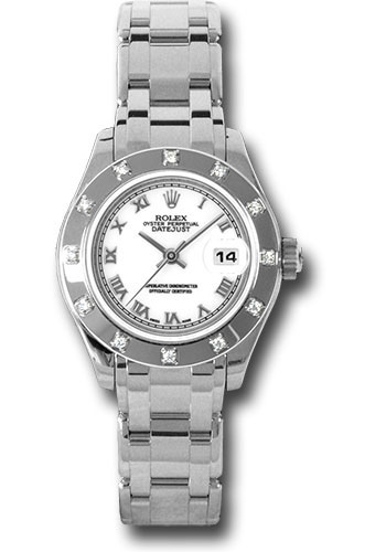 Rolex Watches - Datejust Pearlmaster Lady White Gold - 12 Diamond Bezel - Style No: 80319 wr