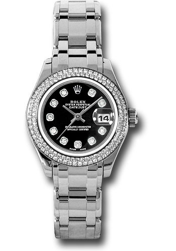 Rolex Watches - Datejust Pearlmaster Lady White Gold - 116 Diamond Bezel - Style No: 80339 bkd