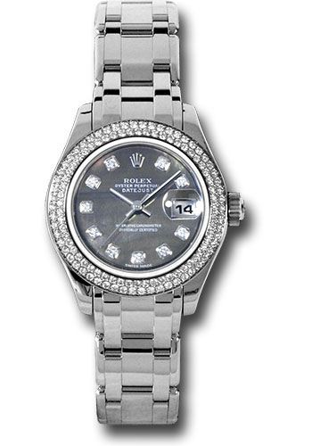 Rolex Watches - Datejust Pearlmaster Lady White Gold - 116 Diamond Bezel - Style No: 80339 dkmd