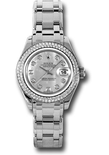 Rolex Watches - Datejust Pearlmaster Lady White Gold - 116 Diamond Bezel - Style No: 80339 md