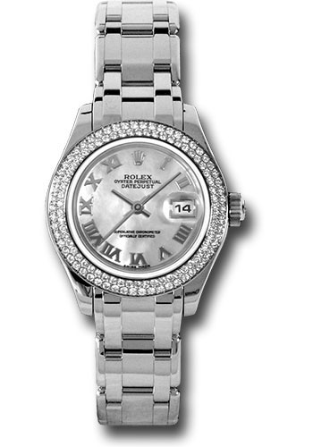 Rolex Watches - Datejust Pearlmaster Lady White Gold - 116 Diamond Bezel - Style No: 80339 mr