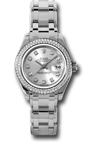 Rolex Watches - Datejust Pearlmaster Lady White Gold - 116 Diamond Bezel - Style No: 80339 sd