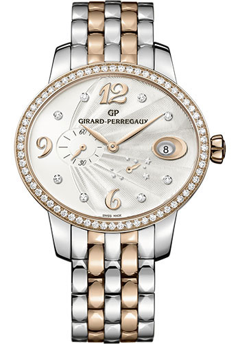 Girard-Perregaux Watches - Cats eye Power Reserve - Steel and Pink Gold - Style No: 80486D56A162-56A
