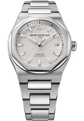 Girard-Perregaux Watches - Laureato 38 mm - Steel - Style No: 81005-11-131-11A