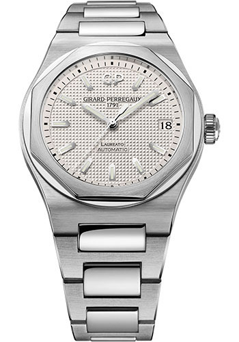 Girard-Perregaux Watches - Laureato 42 mm - Steel - Style No: 81010-11-131-11A