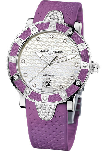 Ulysse Nardin Watches - Marine Diver Lady 40mm - Stainless Steel - Style No: 8103-101E-3C/10.17